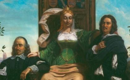 La Normandie s'appuyant sur ses illustres fils Pierre Corneille et Nicolas Poussin